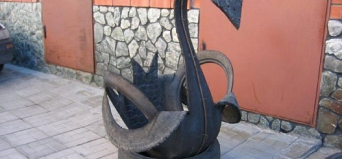 Руководство, как сделать лебедя из шины