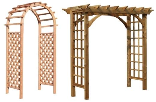 Так выглядит садовая арка из шпалер